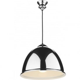 EUSTON retro metal ceiling pendant on black cable