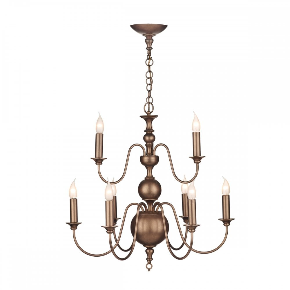 sale retailer 56ea8 2b301 FLEMISH Georgian or Regency large matt bronze chandelier