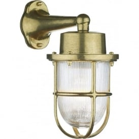 HARBOUR nautical style brass outdoor wall lantern, IP64