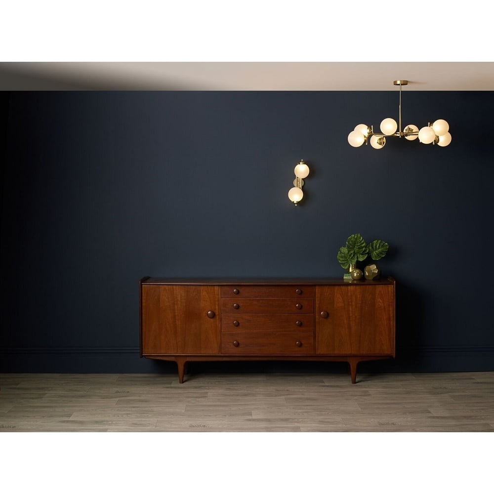 a9efcca4c81b JAZZ contemporary double gold wall light with frosted glass globe shades