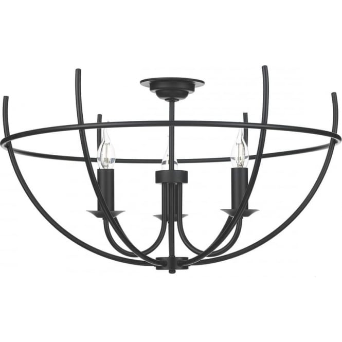 black cage frame light for low ceilings updated medieval gothic style