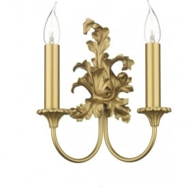 ORMOLU Rococo style double gold wall light