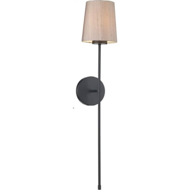 new concept f256e 70eb4 PIGALLE torchiere style black wall sconce with silk shade