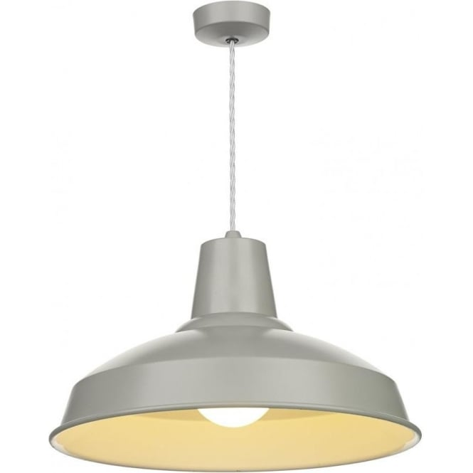 retro style grey painted metal ceiling pendant for over table lighting. Black Bedroom Furniture Sets. Home Design Ideas
