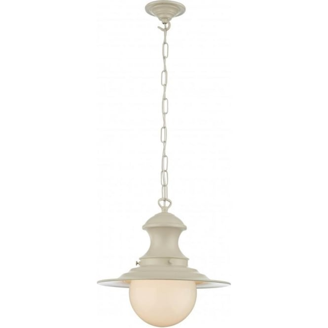 David Hunt Lighting STATION LAMP small cream pendant light on chain