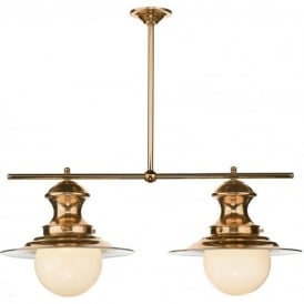 STATION LAMP traditional copper twin ceiling pendant light