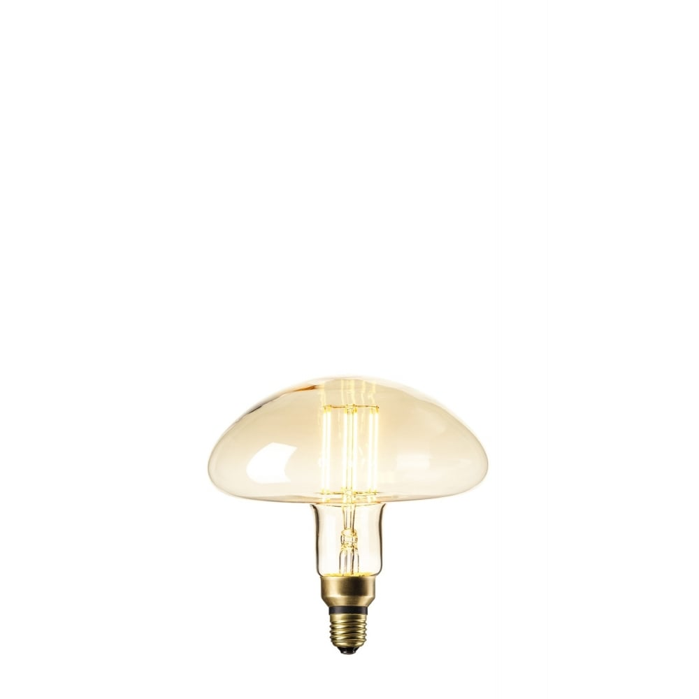 Mushroom Shaped Decorative LED Light Bulb With Gold Tinted