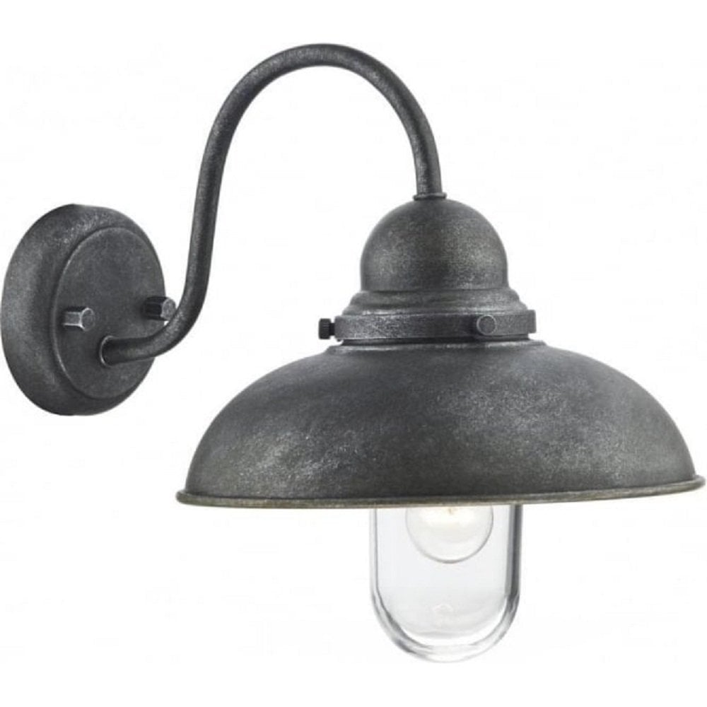 Traditional Rustic Garden Wall Light in Old Iron Finish, IP44