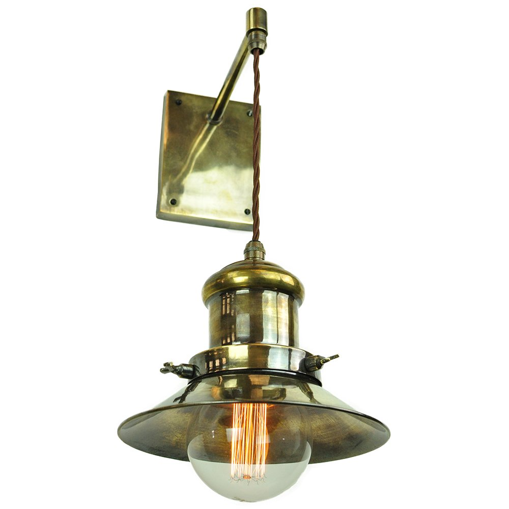 Wall light fitting with hanging nautical style light in for Type of light fixtures