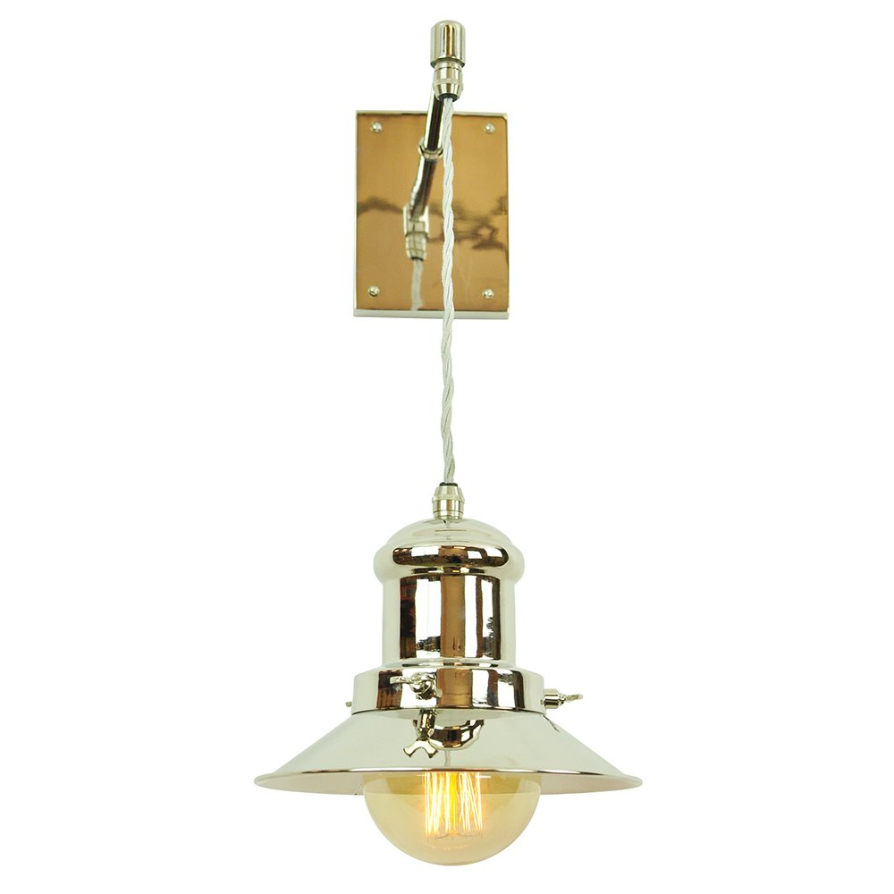 Hanging Wall Light Fitting With Pewter Nautical Lantern On