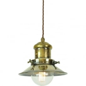EDISON antique brass industrial/nautical style hanging ceiling pendant light