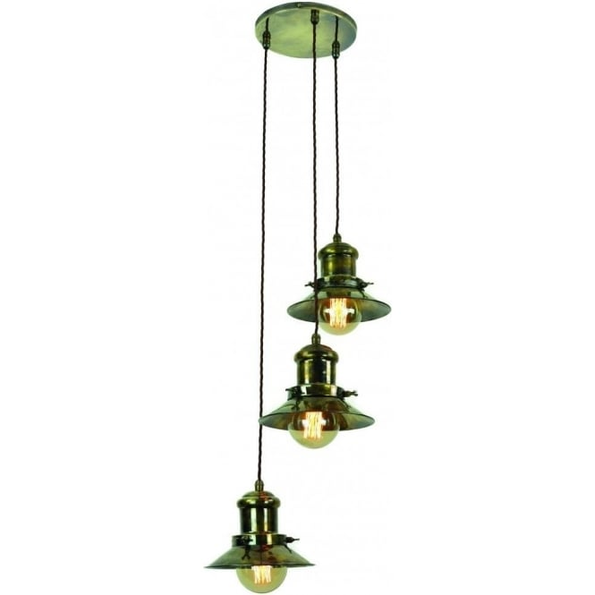 Ceiling Lights With Edison Bulbs : Light ceiling pendant cluster in industrial natucial styling