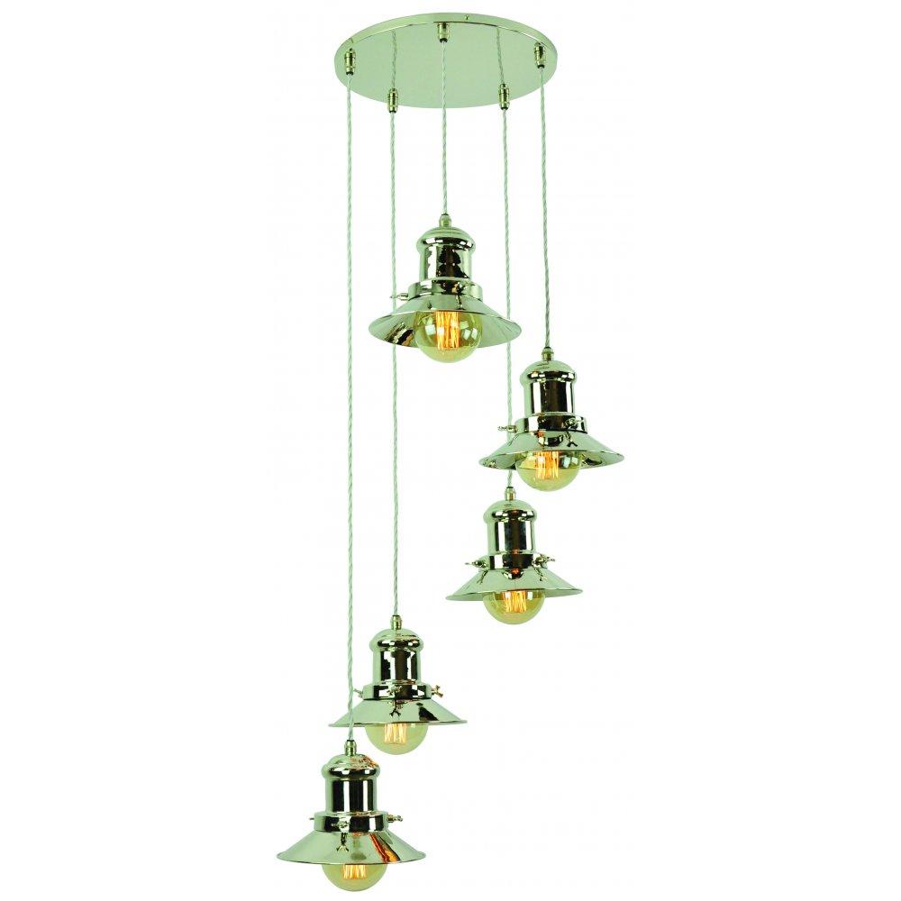 Industrial Kitchen Lights Uk: Vintage Industrial Design 5 Light Cluster Pendant In