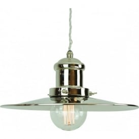 EDISON large industrial/nautical style ceiling pendant light - nickel