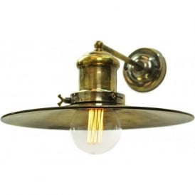 EDISON large industrial/nautical style wall light - antique