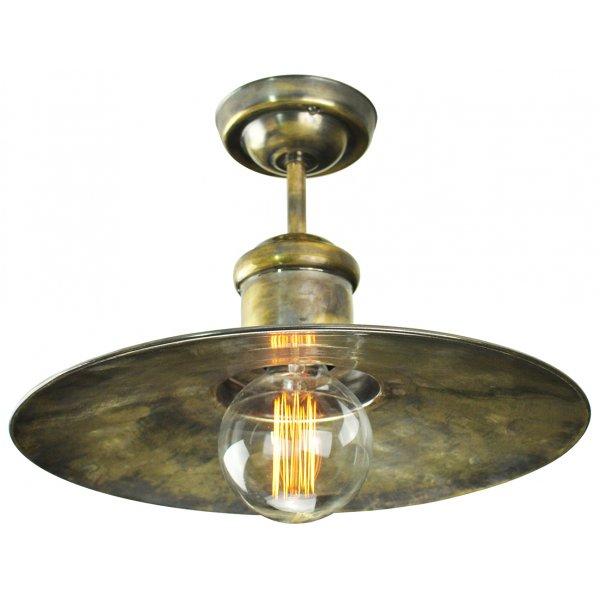 Nautical Style Semi Flush Ceiling Light Antique Finish