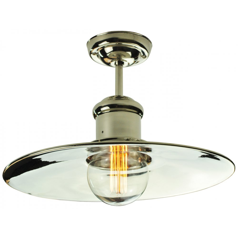 Semi flush fitting low ceiling light in industrial vintage for Type of light fixtures