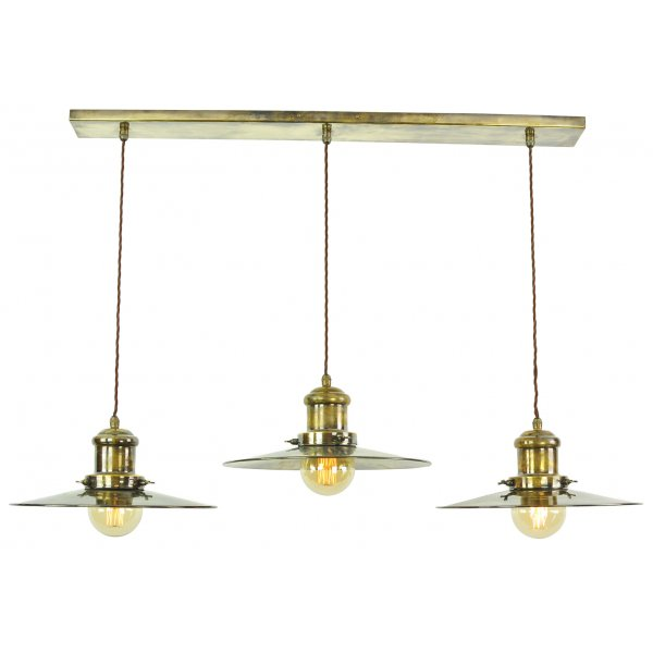 Hanging Kitchen Island Light With 3 Fisherman Style Pendants