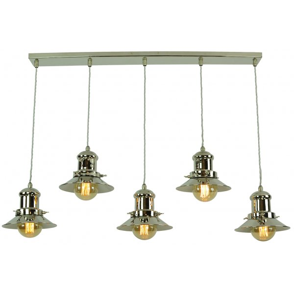 Kitchen Lighting Edison: Vintage Fisherman Style Kitchen Island Pendant With 5