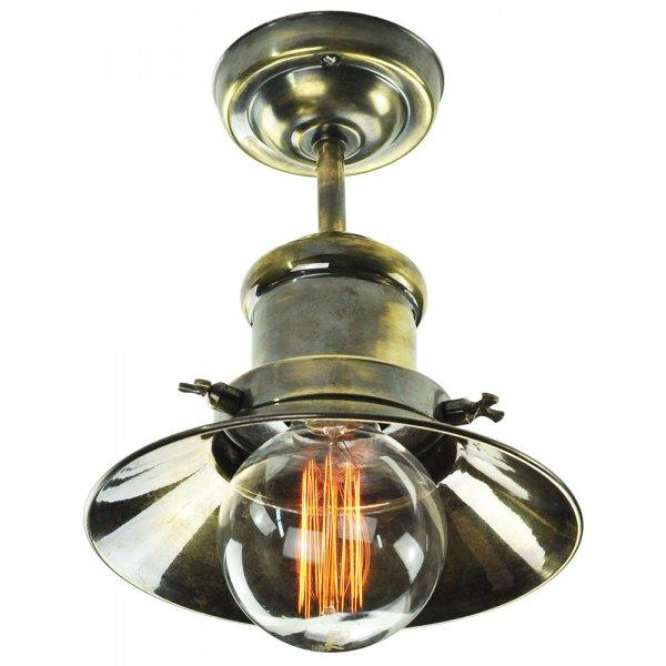 edison semi flush ceiling light in industrial nautical design. Black Bedroom Furniture Sets. Home Design Ideas