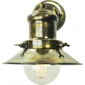 EDISON small industrial/nautical style wall light - antique