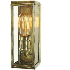 ENGINEER small solid brass outdoor wall lantern - antique finish