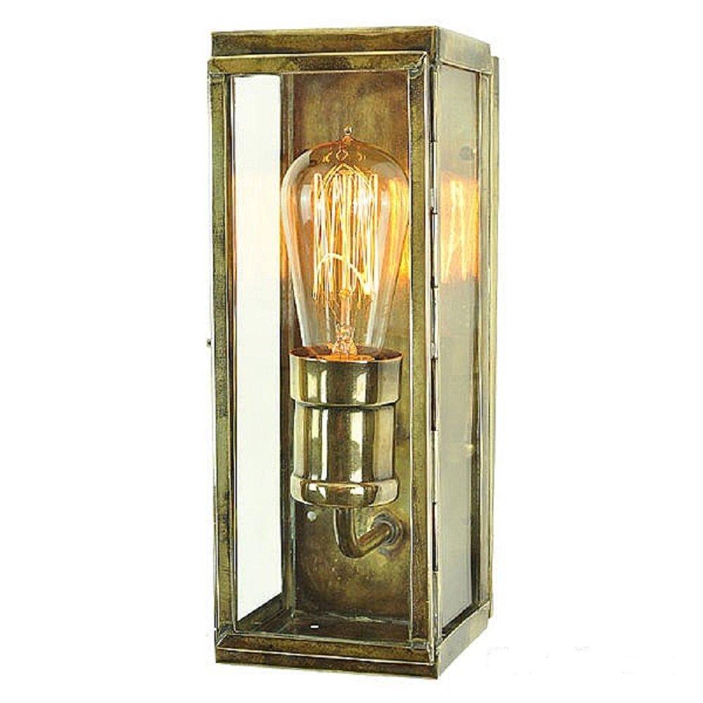 Exterior Wall Lights Brass : IP44 Exterior Wall Light, Industiral Design in Rectangular Box Shape