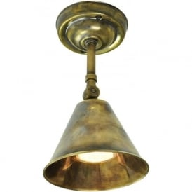 MAP ROOM adjustable brass wall or ceiling light in antique finish