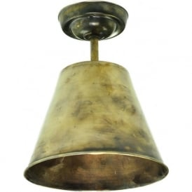 MAP ROOM retro style flush fitting metal ceiling light - antique