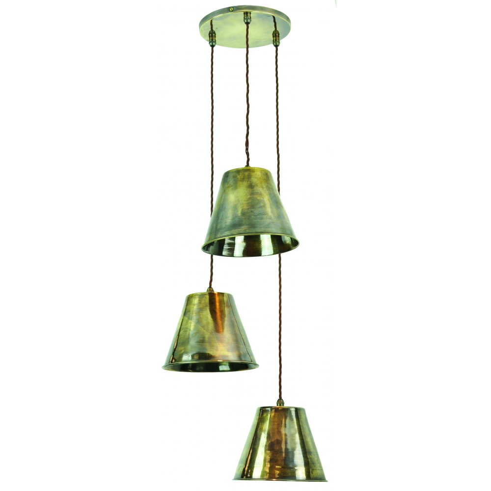 Cluster Ceiling Pendant Light With 3 Lights Hanging On