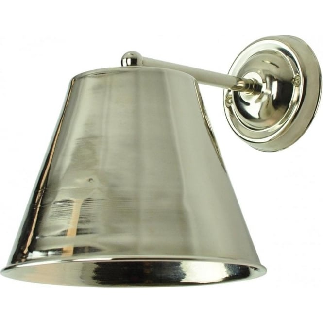 Industrial Style Nickel Metal Wall Light with Dimmable LED Spotlight