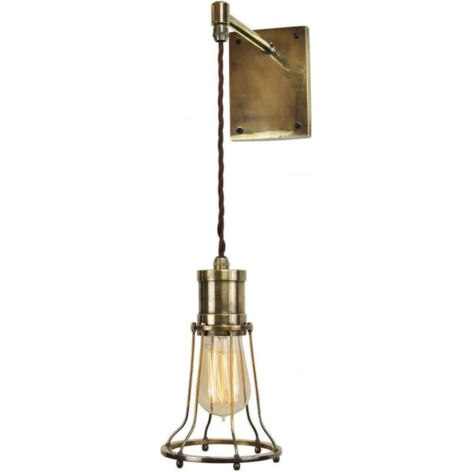 Edison Lighting MARCONI adjustable height wall light - antique finish