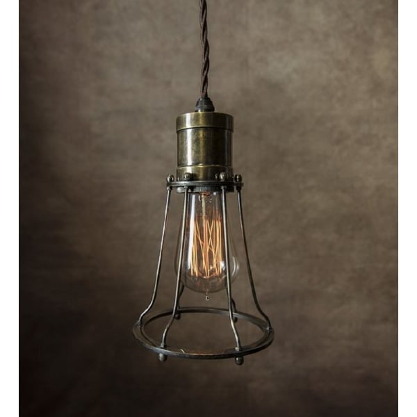 Ceiling Lights With Edison Bulbs : Steampunk industrial hanging ceiling pendant light with