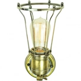 MARCONI industrial style adjustable wall light - antique