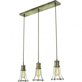 MARCONI industrial style kitchen island pendant light - antique