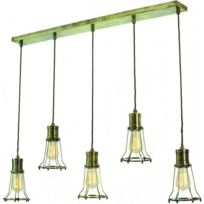 Edison Lighting MARCONI industrial style kitchen island pendant light - antique