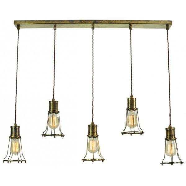 Kitchen Lighting Edison: 5 Light Mutiple Pendant Breakfast Bar Light With Metal