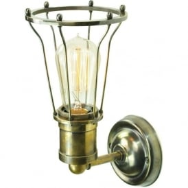 MARCONI industrial style wall light - antique