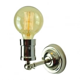 TOMMY adjustable wall/ceiling light with filament bulb - nickel