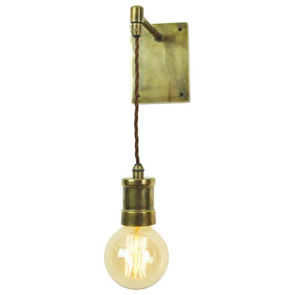 Wall Pendant Light: Industrial Hanging Wall Light In Antique Finish With