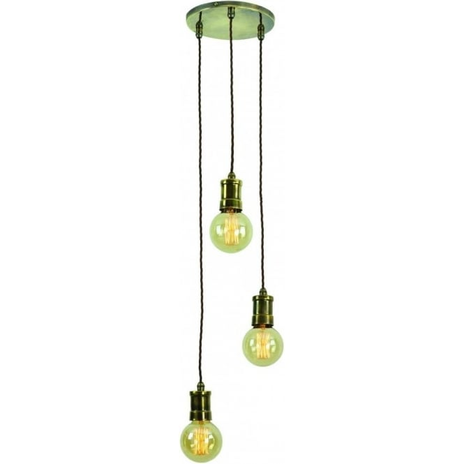 Industrial Urban 3 Light Cluster Ceiling Pendant With