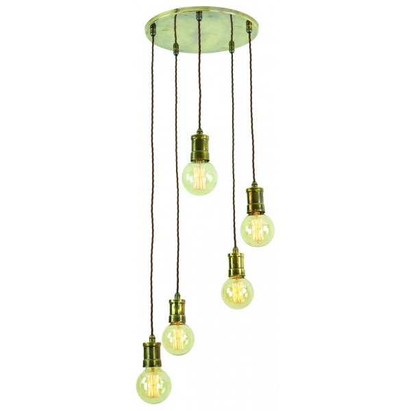 vintage industrial style cluster ceiling pendant with