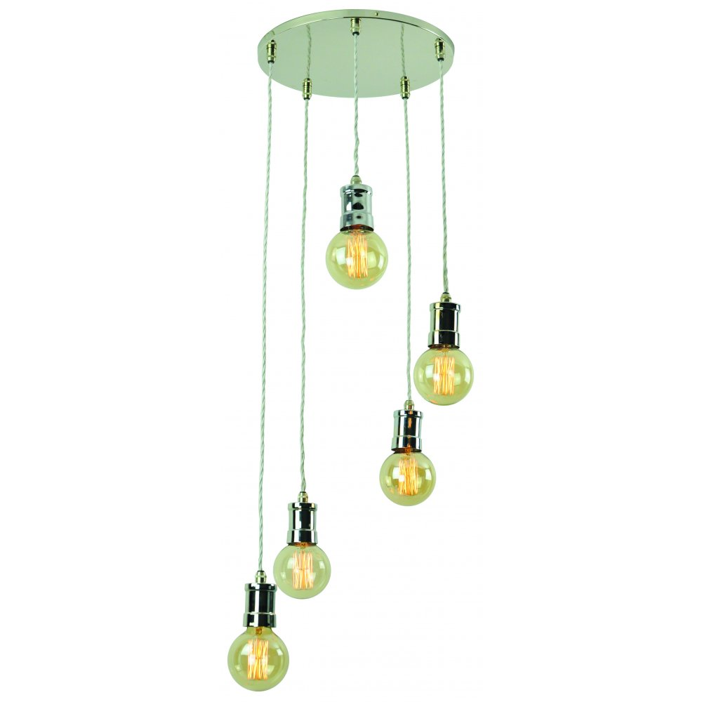 5 Light Hanging Cluster Ceiling Pendant Light In