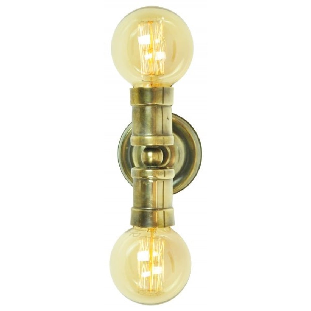 Home shop by era edwardian lighting monaghan lighting monaghan - Tommy Industrial Style Double Wall Or Ceiling Light Antique