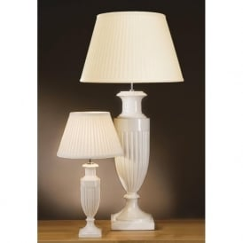 APHRODITE cream ceramic urn table lamp and shade (small)