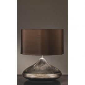 COLUMBUS silver and turquoise ceramic base table lamp (spinner)