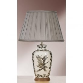 ETCHED BIRDS ceramic table lamp with shade