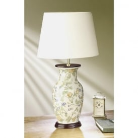 FORGET ME NOT ceramic base floral pattern table lamp and shade