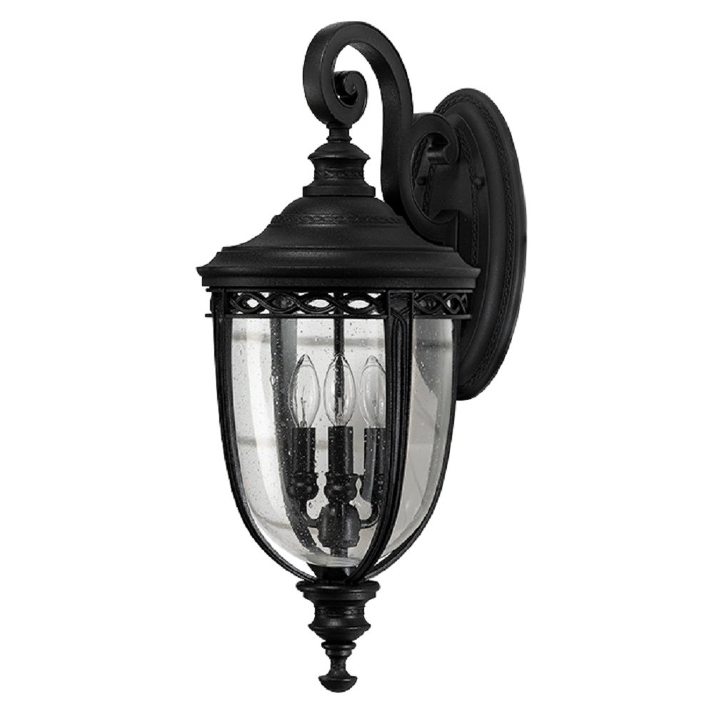 English Bridle Large Outdoor Garden Wall Light In Black Finish