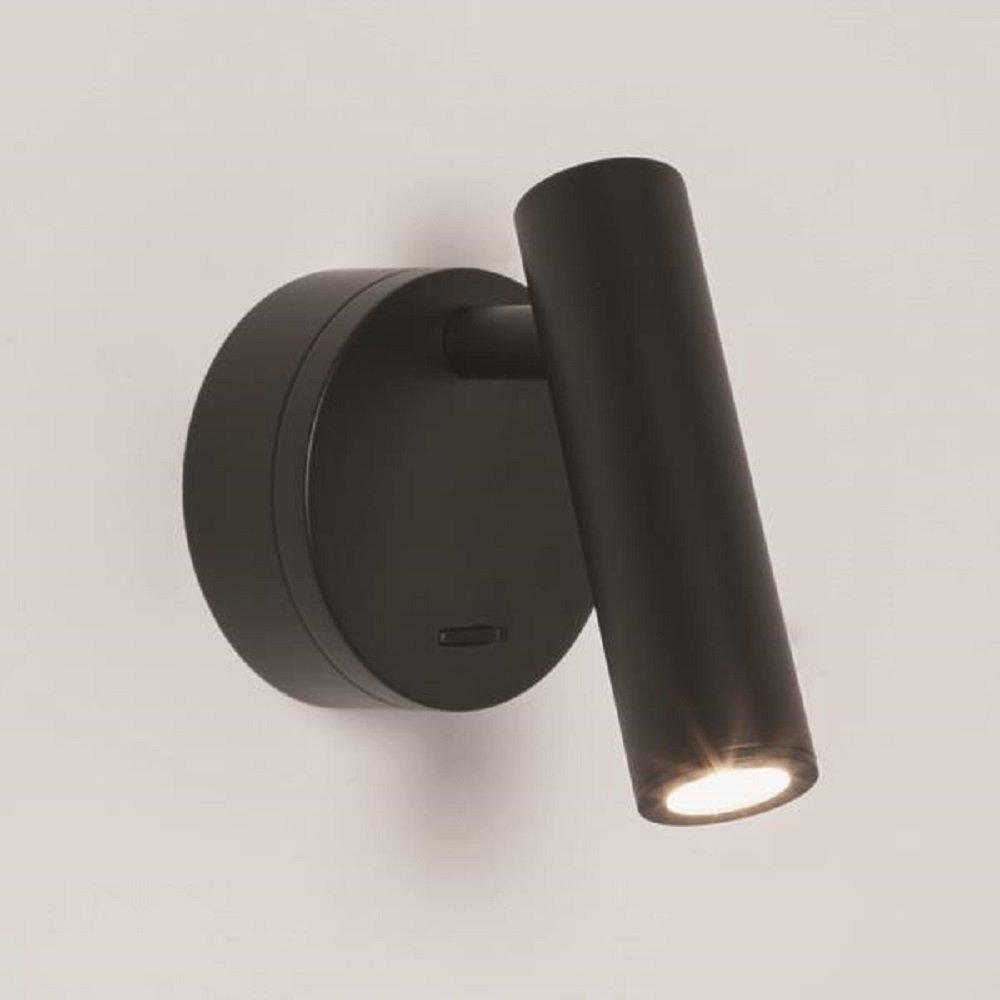 Led Wall Mounted Book Reading Light In Black Finish For Reading In Bed
